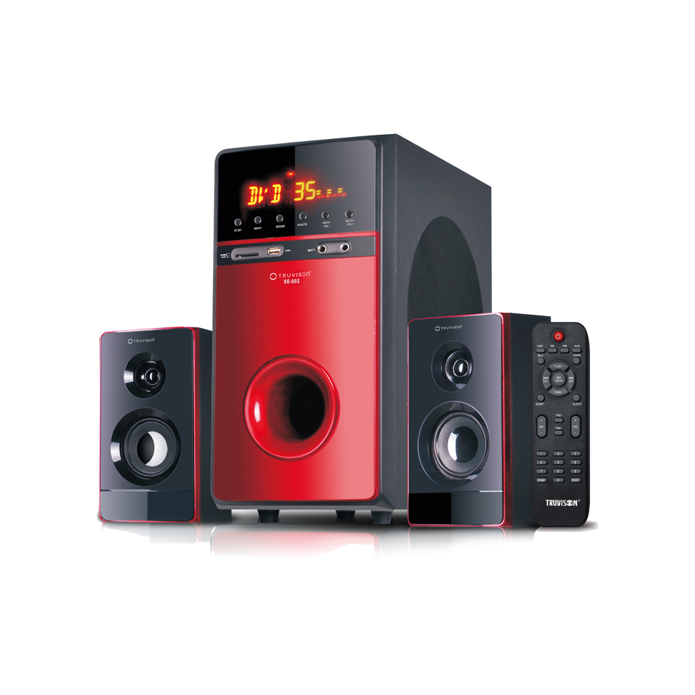 SE-002 BT 2.1 Channel Home Theater System with Bluetooth - Buy Home Theatre System Online at Best Price | Truvison. Available at ₹5999